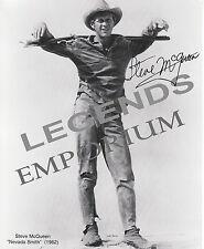 "Steve McQueen AUTOGRAPHED Reprint ""Nevada Smith""     8 x 10 Photo McQ-02"