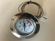 Termometro incasso per forno a legna BBQ a dilatazione gas 0-450°C allerta 600°C