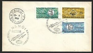Vietnam 1963 UIT Space Rokets Telecommunications 3v on FDC
