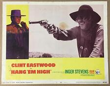 c/u of man with eye patch pointing gun  Hang 'Em High 1968 # 3  lobby card 1136