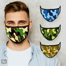 New CAMOUFLAGE Kids and Adults Face Mask Cover Reusable Mens Gamer Boys Pattern