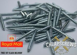 10x1.1/2 SIZE WOOD TO WOOD DOWEL SCREWS DOUBLE ENDED SCREWS