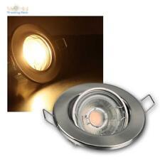 LED Focos empotrados 8flg Set completo,cada 60 SMD LEDs blanco cálido,Reflector