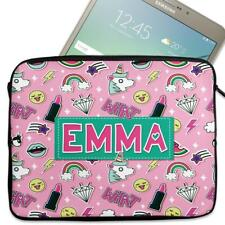 "Personalised Tablet Cover UNICORN ROCK Neoprene Sleeve Case 7"" - 10"" KS146"