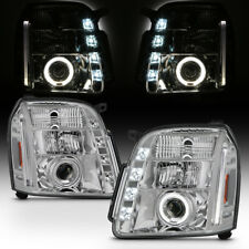 2007-2013 Gmc Yukon Denali Led Running Drl Halo Projector Headlights Headlamps (Fits: Gmc)
