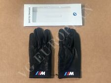 BMW Genuine M Driving Gloves Black Leather Mens Medium NEW