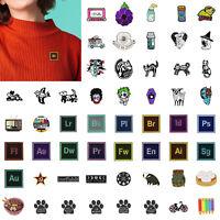 54 Arten Cartoon Broschen Abzeichen Lustige Emaille Kragen Revers Jacke Pins DE