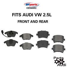 Front And Rear Ceramic Disc Brake Pads Set Fits Audi VW 2.5