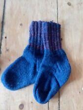 hand knit wool socks Sz M