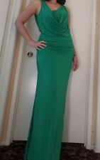 BCBG MAX AZRIA NICOLE LIGHT KELLY GREEN DRAPED JERSEY GOWN  NWT LARGE