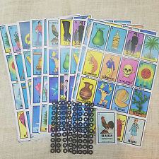 Loteria Mexicana Jumbo. 10 DIFFERENT Boards, 1 Deck, Mexican Bingo Authentic.