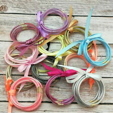 All Weather Glitter Bangles Set Glitter Filled Silicone Jelly Summer Bracelets M