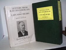 LETTERS FROM BASIL HALL CHAMBERLAIN TO LAFCADIO HEARN VINTAGE JAPAN FIRST ED. Bk