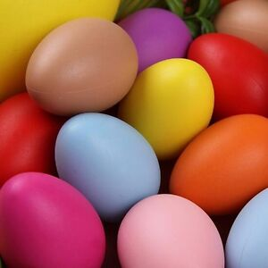 20* Colorful Plastic Easter Eggs Bright Plastic Egg DIY Party Home Wedding 2019