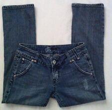 MISS ME Junior's Blue Jean Capri Pants Size 27 Seville Style# JP4505 CUTE!