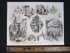 Other Asian Antiques Antiques 1850 Stampa Xilografica Giapponese Maestro Toyokuni Utagawa Iii Carta Di Riso ♧