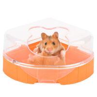 Stylish Small Animal Hamster Sauna Sand Bath Room Bathing Potty Toilet Plastic N