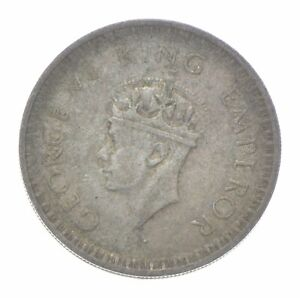 SILVER Roughly the Size of a Quarter 1944 India 1/2 Rupee World Silver Coin *443