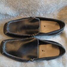 "Perry Ellis America Men's ""Prepp"" Black Leather Loafer Shoes Size 9"