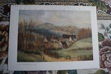 Kunstdruck 1938 A3 / Josef Horn Bergisches Land