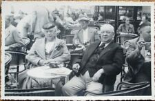 French Restaurant/Cafe/Bistro Terrace 1937 Realphoto Postcard - People Smoking