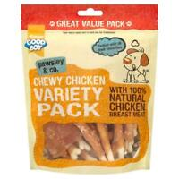 Good Boy Pawsley Dog Chewy CHICKEN VARIETY PACK Meat Rawhide Treats Chews 320gm