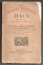 HERSART DE LA VILLEMARQUE LE GRAND MYSTERE DE JESUS 1865 EO THEATRE BRETAGNE