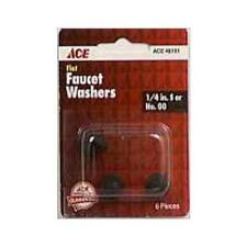 Ace Flat Faucet Washers 1/4 or 00 (Pack of 6), 46101