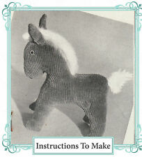 Vintage Visage 1940s wartime Horse, pony toy sewing pattern-with paper pieces