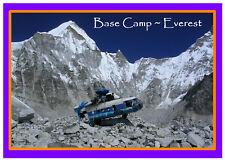 BASE CAMP AT EVEREST  - SOUVENIR NOVELTY FRIDGE MAGNET - SIGHTS / FLAG / GIFTS