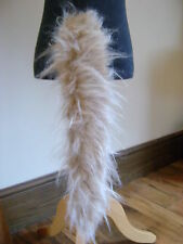 Animal Dog Cat Wolf Tail Beige/Cream/White Tipped Luxury Faux Fur Long Pile Tail