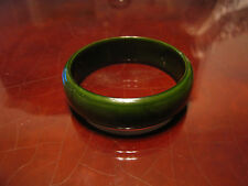 Vintage Green Bakelite or Celluloid Bangle Bracelet