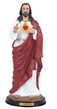 "9"" Inch Sacred Heart of Jesus Sagrado Corazon de Jesus Statue Figurine Figure"