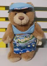 RACQ CAREFLIGHT BEACH TEDDY BEAR PLUSH TOY! SOFT TOY ABOUT 29CM TALL KIDS TOY!