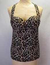 Victoria's Secret Miraculous Bra Halter Top Size 34A Leopard Print Sexy Push-up