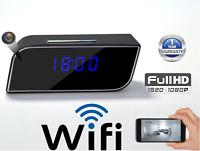Camera Clock Wifi Nanny Cam 1080p HD, Night Vision / Motion Detection