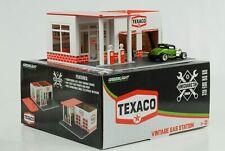 1:64 Texaco Tankstelle Gas Station Vintage Diorama Greenlight no car