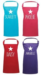 Personalised Name Apron - Baking Cooking Art Crafts Customised Childrens Star