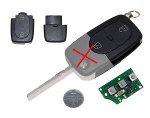 NEU Audi A2 A3 A4 A6 S3 Sendeeinheit Gehäuse 2 Tasten 4D0837231R 4D0837231 A32