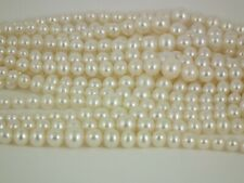 4-8mm freshwater semi round pearl loose string,White, by Pearls Direct