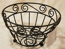New listing Spectrum Scroll Fruit Bowl, Black Metal, New with Tags