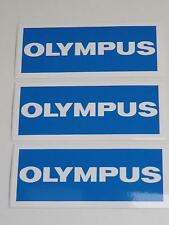 3x Job Lot of Vintage Olympus Camera Vinyl 115mmx50mm Dealer Stickers
