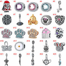 European Silver Charms Bead Christmas Enamel Pendant Fit 925 sterling Bracelets