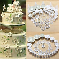 33PCS Sugarcraft Cake Cupcake Decorating Fondant Icing Plunger Cutters Tools  Hw