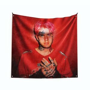 "Lil Peep ""Hellboy"" Art Music Album Poster Hanging Tapestry Flag 3FT/4FT"