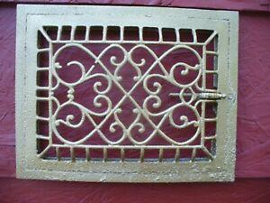 Antique Victorian STEEL CAST IRON FLOOR WALL REGISTER Heating GRATE 11 X 14