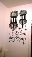 Stickers mural oriental islamique salam aleykoum lanternes plusieurs couleurs