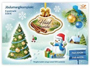 ESTONIA - Christmas stamp minisheet 2017 with cinnamon smell 671-24.11.17