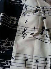 Dekora design PENTAGRAMMA note musicali tessuto stoffa scampolo scampoli COPPIA