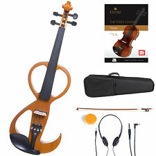 Cecilio Size 4/4 Electric Violin Ebony Fitted ~Yellow Style3